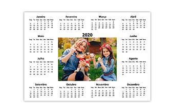 Calendário Anual 30x42cm