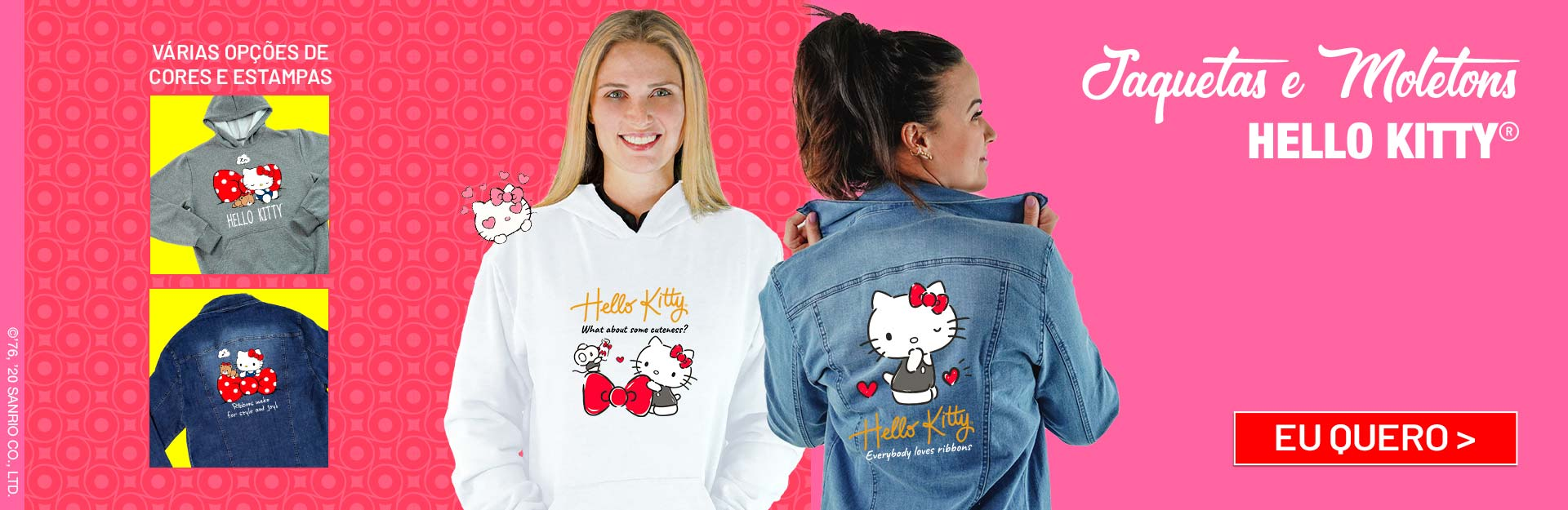 Jaquetas e Camisas Hello Kitty