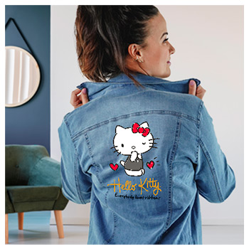 Jaqueta Jeans Feminina Hello Kitty